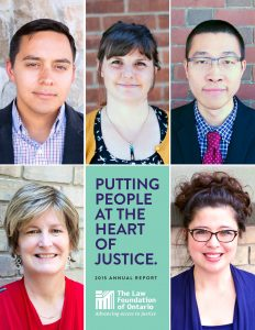 2015 Annual Report Putting People at the Heart of Justice