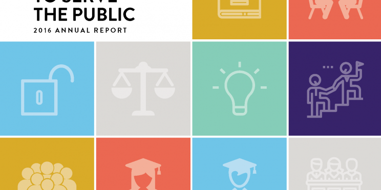 2016 Annual Report Supporting Law Students to Serve the Public
