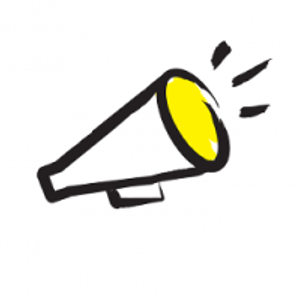 Illustration of a megaphone from the CNIB's Know Your Rights program