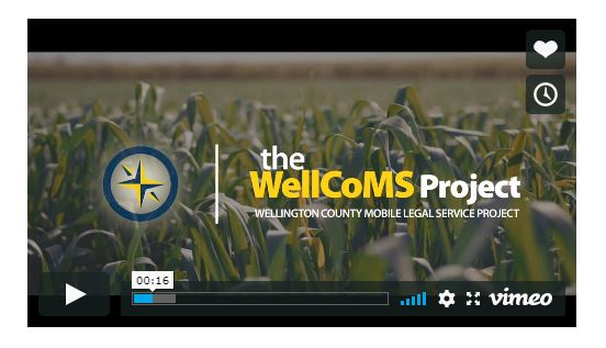 Still image from Wellington County Mobile Legal Service (WellCoMS) video