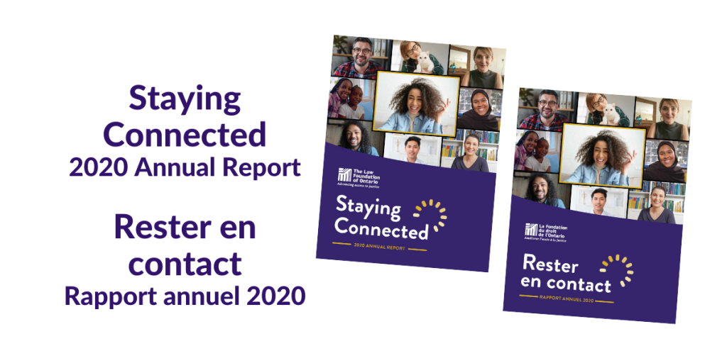 Staying Connected 2020 Annual Report; Rester en contact Rapport annuel 2020