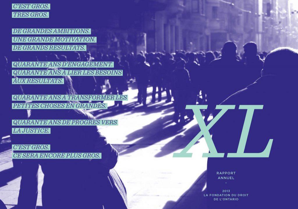 Rapport Annuel 2013 Quarante ans de progrès vers la justice