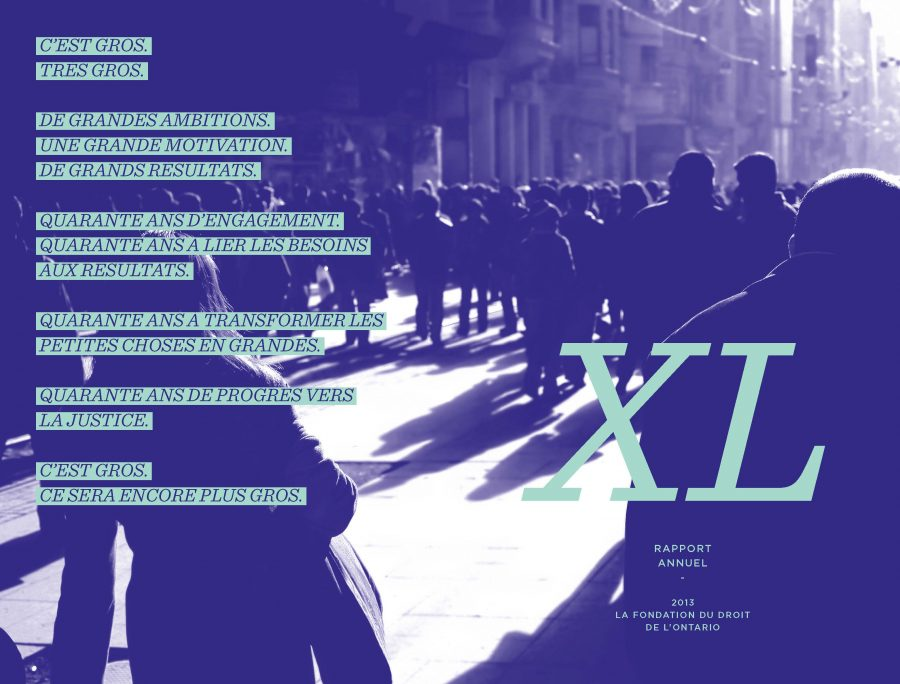 Rapport Annuel 2013 - Quarante ans de progrès vers la justice