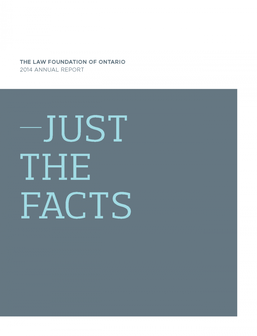 2014 Annual Report - Just the Facts