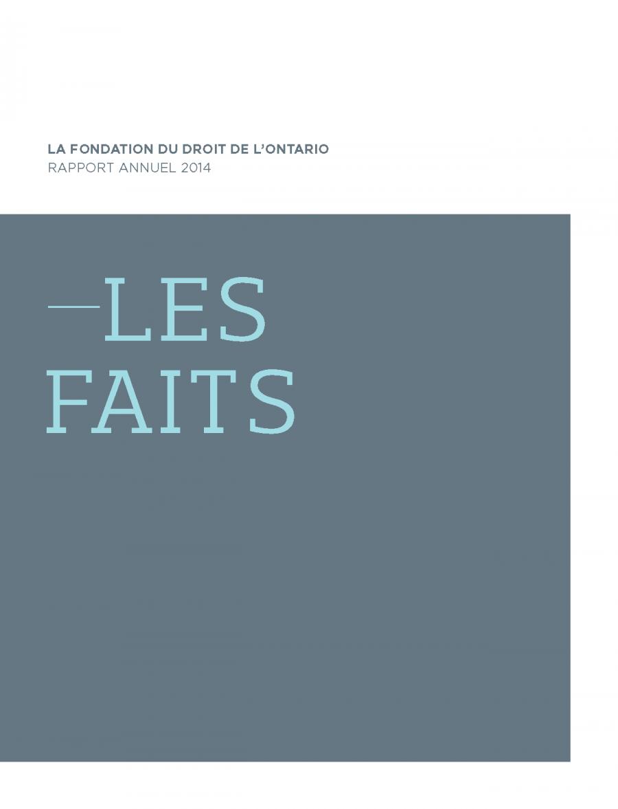 Rapport Annuel 2014 - Les faits