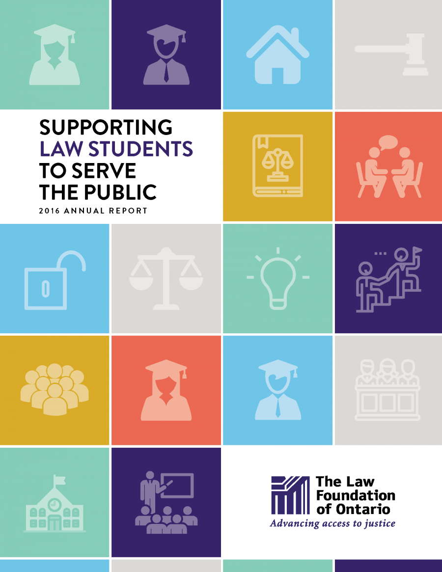 2016 Annual Report - Supporting Law Students to Serve the Public