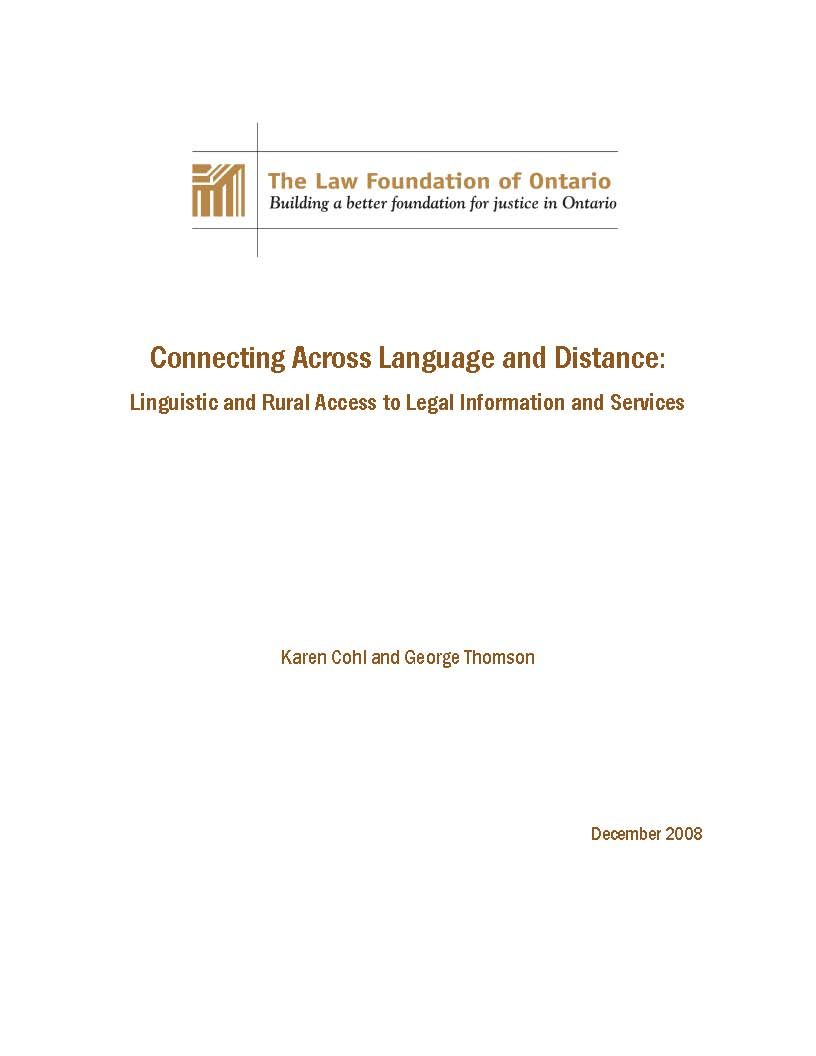 Connecting Across Language and Distance (2008)