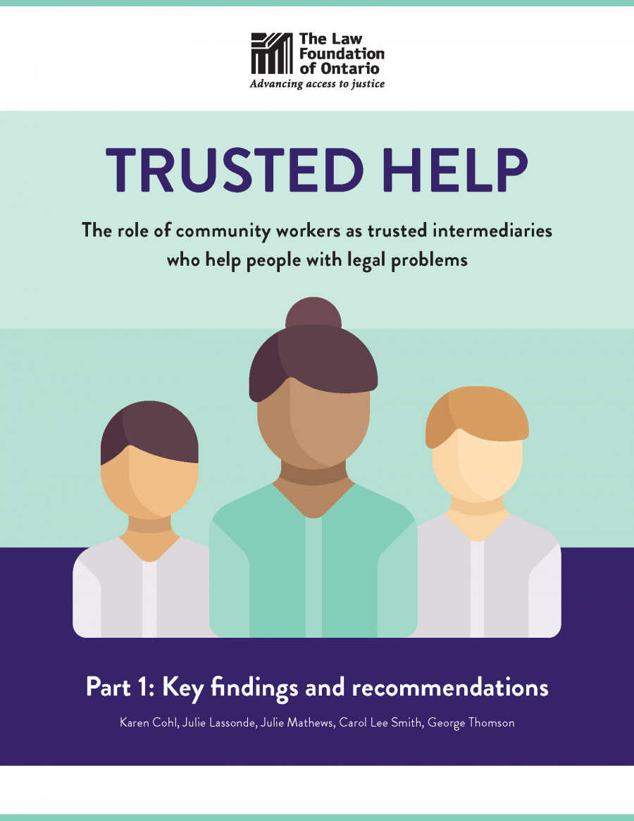 Part 1 - Trusted Help: The role of community workers as trusted intermediaries who help people with legal problems (2018)